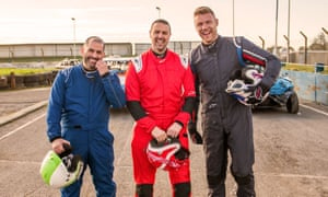 Gone up a gear ... Harris, McGuinness and Flintoff.