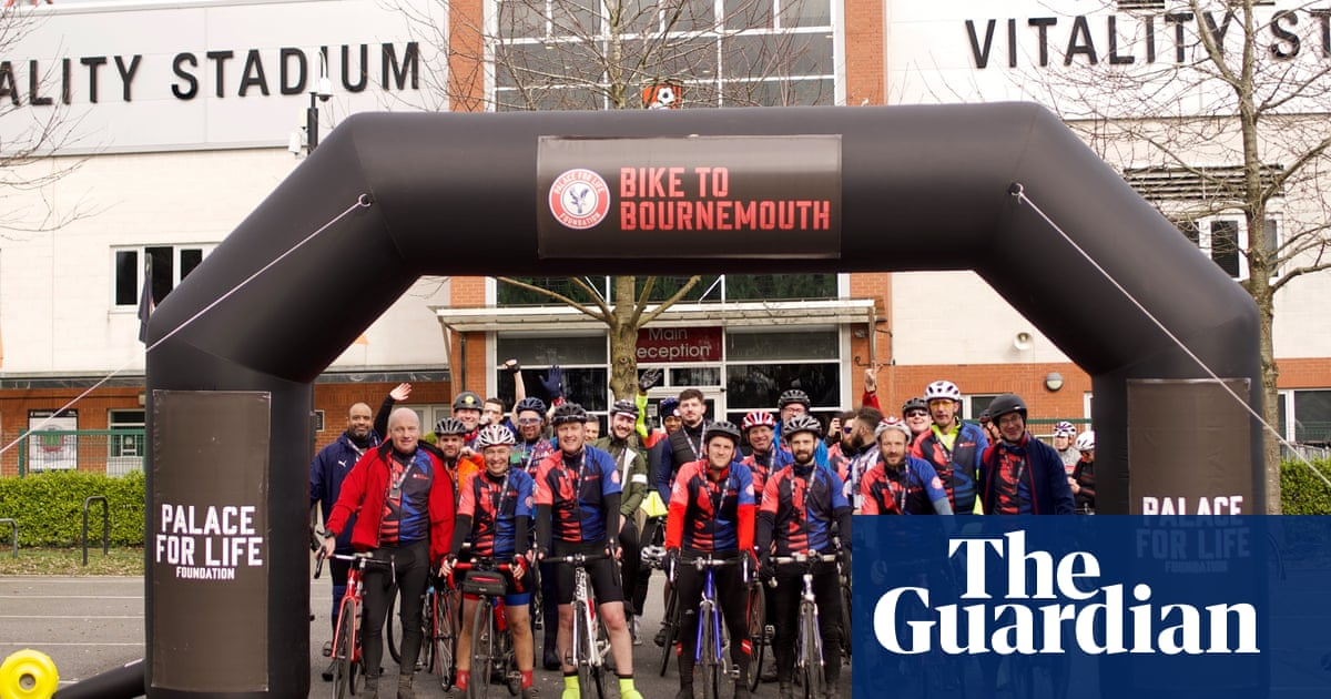 Crystal Palace Fans Complete Charity Bike Ride To Postponed Game