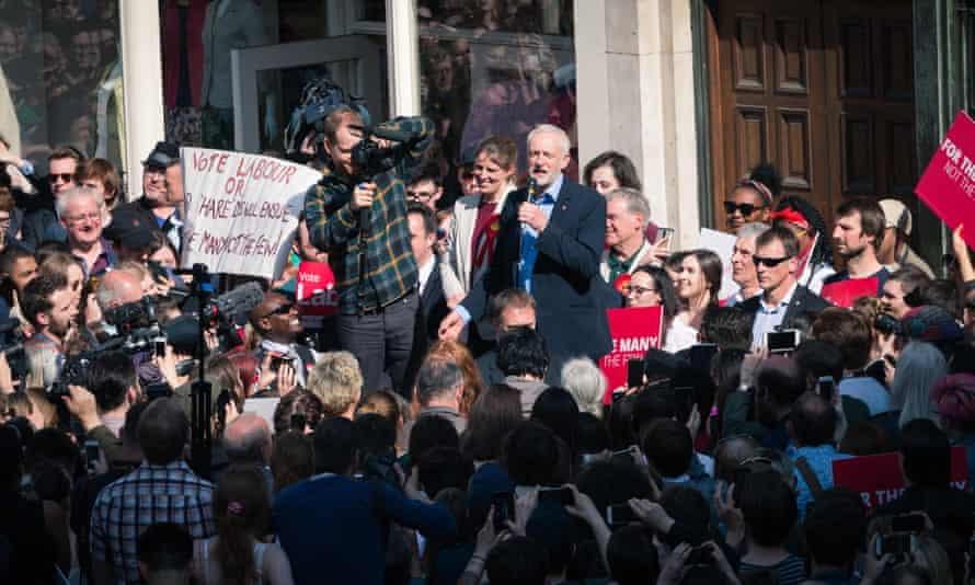 Jeremy Corbyn in York on 6 January.