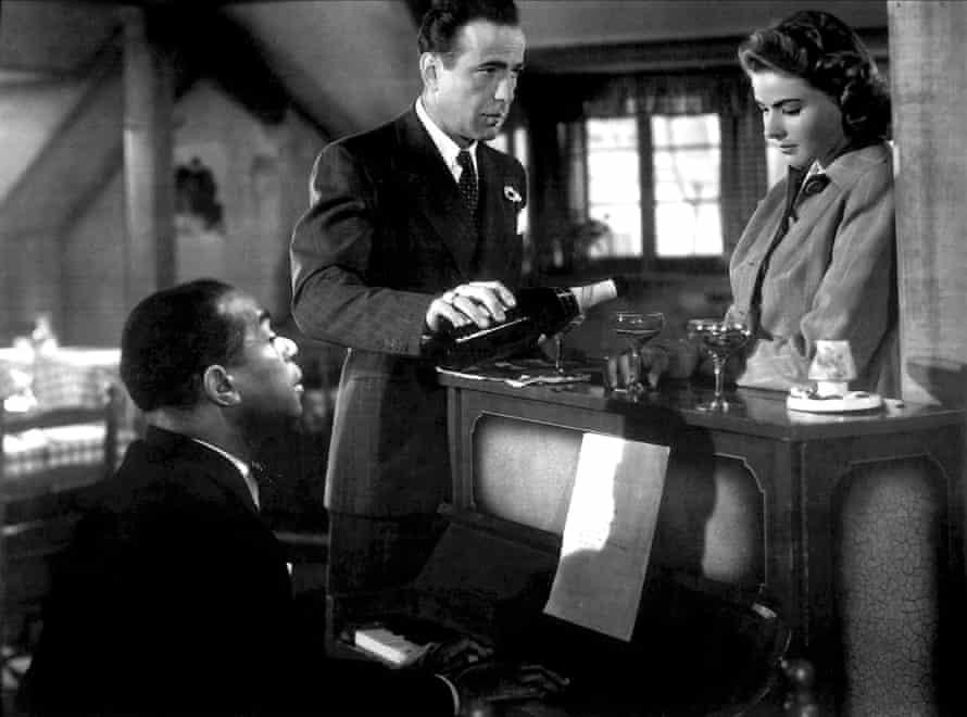 Dooley Wilson, Humphrey Bogart and Ingrid Bergman in Casablanca film