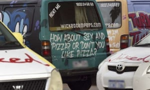062c646b18 Byron and Ballina Shire councils in northern NSW have taken steps to try to  ban the messages on some of Wicked Campers  vans. Photograph  William  West AFP
