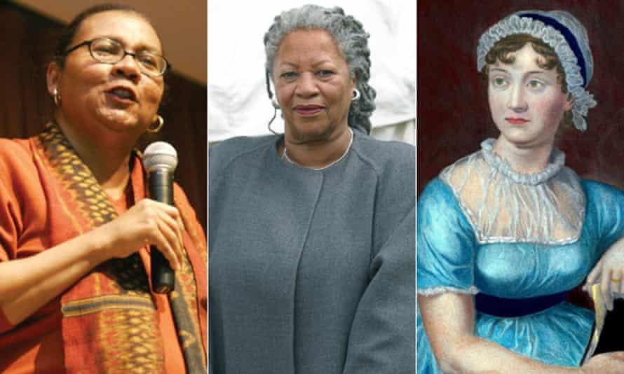 Composite of bell Hooks, Toni Morrison and jane Austen