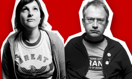 Josie Long and Robin Ince.