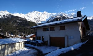 A general view shows the French Alpine resort of Les Contamines-Montjoie, France, where five British nationals including a child have been diagnosed with the coronavirus.