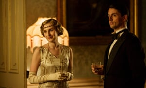 Laura Carmichael as Lady Edith and Matthew Goode as Henry Talbot in Downton Abbey.