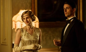 Laura Carmichael as Lady Edith and Matthew Goode as Henry Talbot in Downton Abbey