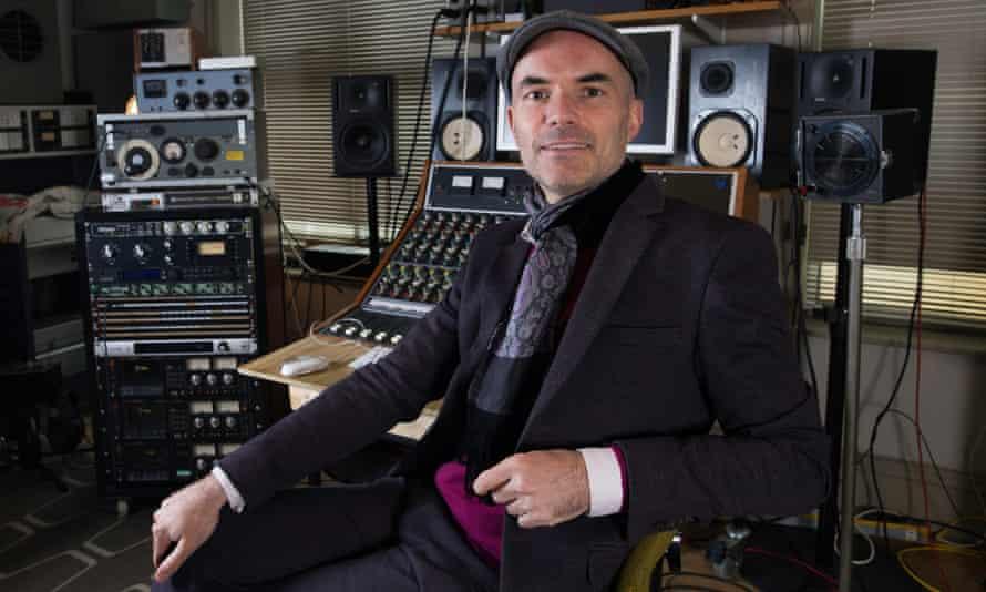 Steve Brennan at Eve recording studios in Stockport