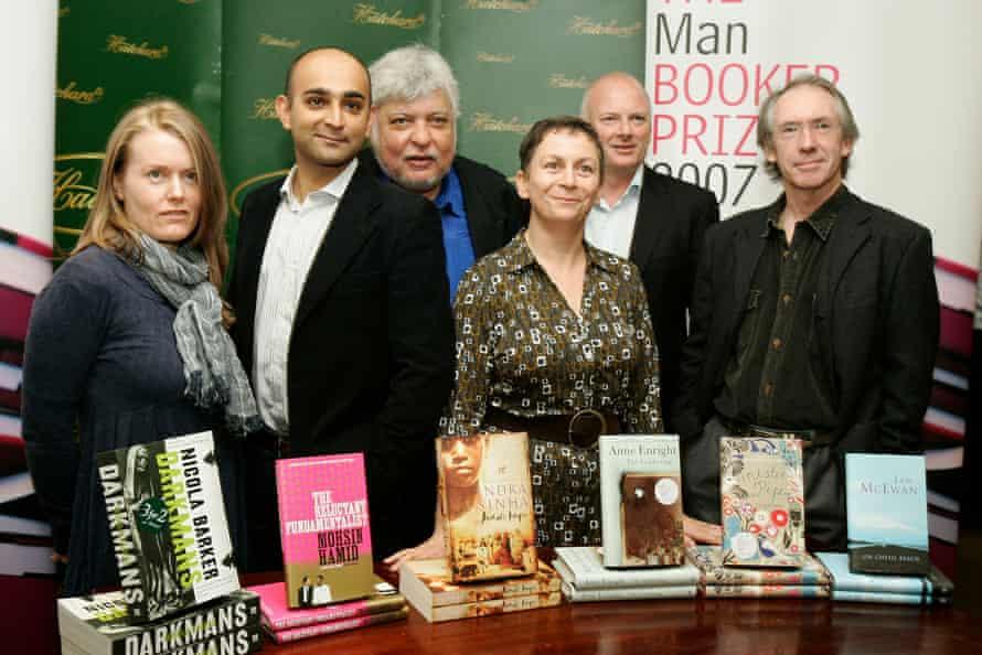 McEwan with fellow Booker prize shortlist finalists in 2007.