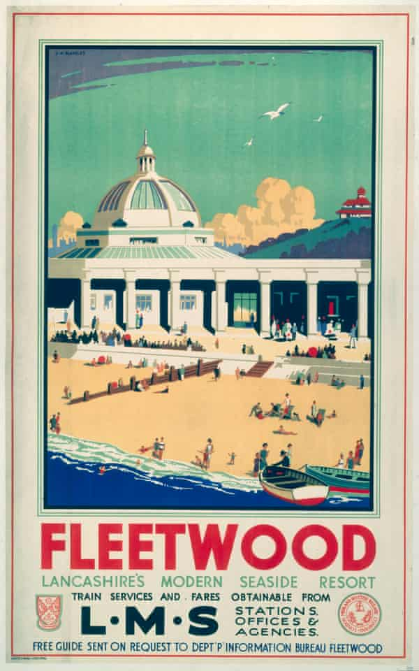 A 1935 London Midland & Scottish Railway poster, advertising Fleetwood in its heyday.