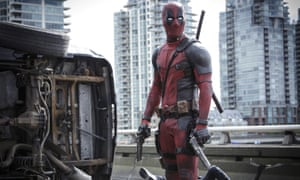 Continuing in potty-mouthed form ... Ryan Reynolds in Deadpool.