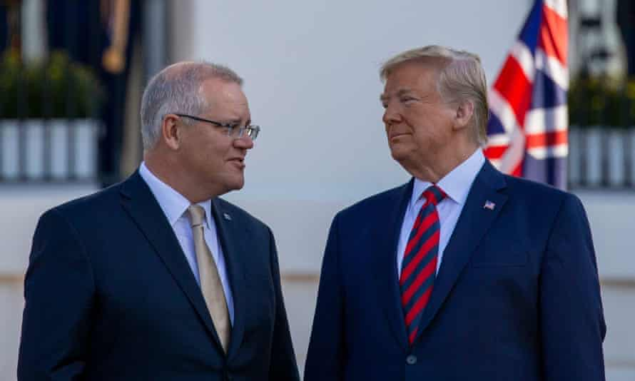 Scott Morrison with Donald Trump at the White House