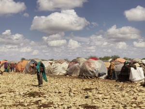 Two seasons of failed rains and insecurity have pushed 155,000 people from rural areas into Baidoa, the provincial capital of the Bay region, in the country's south west. Many have set up home at Muuri camp, gathering together in the hope food and water will reach them