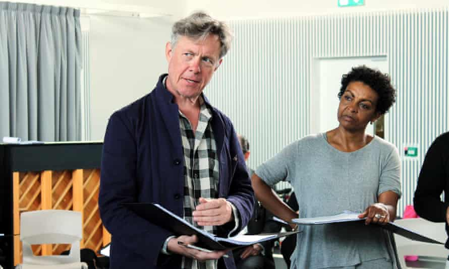 Alex Jennings (George W Bush) and Adjoa Andoh (Condoleeza Rice)
