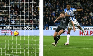 Steve Mounie's goal was the first by a Huddersfield striker in the Premier League this season.