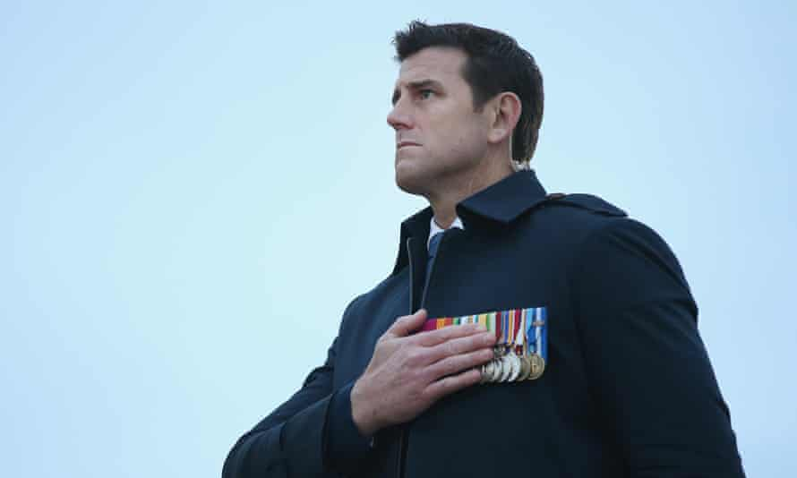Ben Roberts-Smith at the dawn service on the Anzac' campaign's centenary on 25 April 2015 near Eceabat, Turkey.