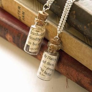 Austen message in a bottle necklaces