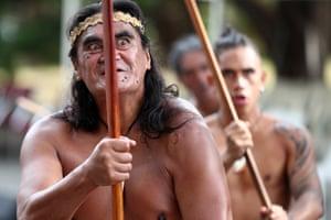 Men perform the haka