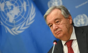 United Nations Secretary General Antonio Guterres speaks during a press briefing at United Nations Headquarters on 4 February 2020 in New York City.