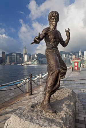 Another riverside tribute: Bruce Lee ripples in Hong Kong in 2009.