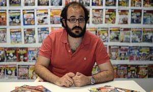 Guillermo Martínez-Vela, the editor of El Jueves