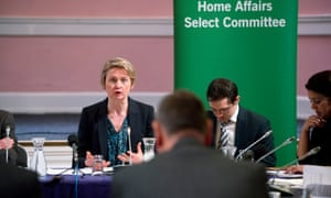 Yvette Cooper, the chair of the home affairs committee