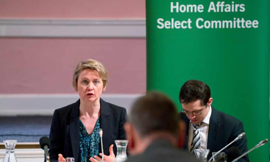 Yvette Cooper chairing the meeting