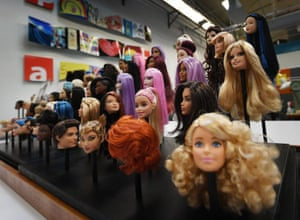 Barbie dolls in all skin colours and hair colours