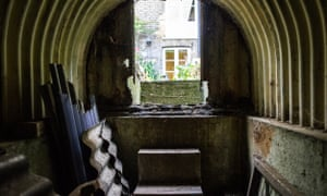 The inside of Martin Stanley's Anderson shelter at his home in south London.