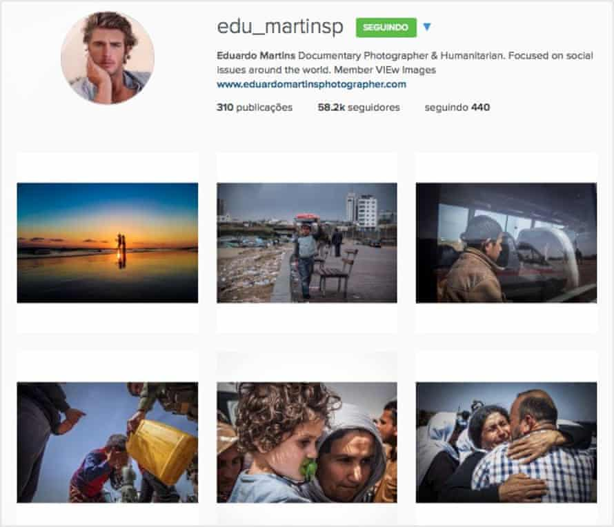 Eduardo Martins' Instagram page. Photographer Ignácio Aronovitch said he thought many of the images were the work of different people.