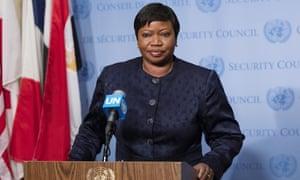 Fatou Bensouda, chief prosecutor of the international criminal court, at the UN last year.