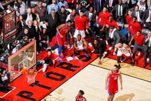 1st Prize Sports Singles | Kawhi Leonard's Game 7 Buzzer Beater | Mark Blinch, Canada. Kawhi Leonard #2 of the Toronto Raptors watches after hitting the game-winning buzzer beater shot against the Philadelphia 76ers