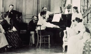 Ernest Chausson page-turning for Claude Debussy, 1893.