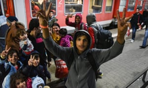 Refugee families arrive in Mannheim last September: 'If there is another big wave of immigration, there will be a point at which we cannot cope.'