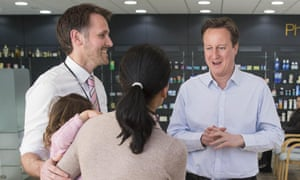 David Cameron Prime Minister David Cameron on general election visit to the Chipping Norton Health Centre, Oxfordshire.