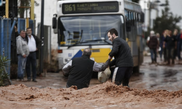 Deadly flash floods cause 'biblical damage' in Athens