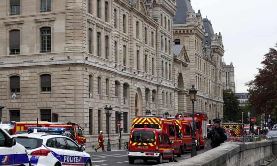 Emergency services at the scene in Paris