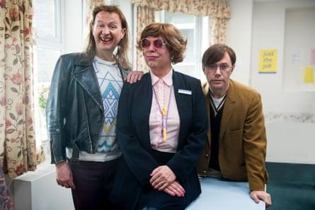 Mickey (Mark Gatiss), Pauline (Steve Pemberton) and Ross (Reece Shearsmith) in The League of Gentlemen
