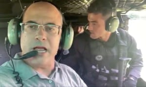 Wilson Witzel onboard the helicopter