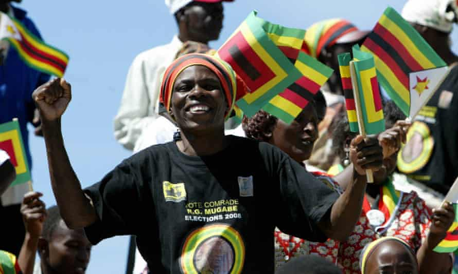 The Zimbabwean flag has been used by thousands to share their frustrations online.