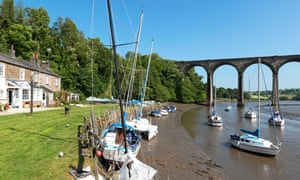 The quay on the River Tiddy at St Germans.