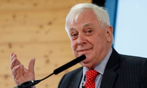 Chris Patten speaking at a People's Vote event earlier.