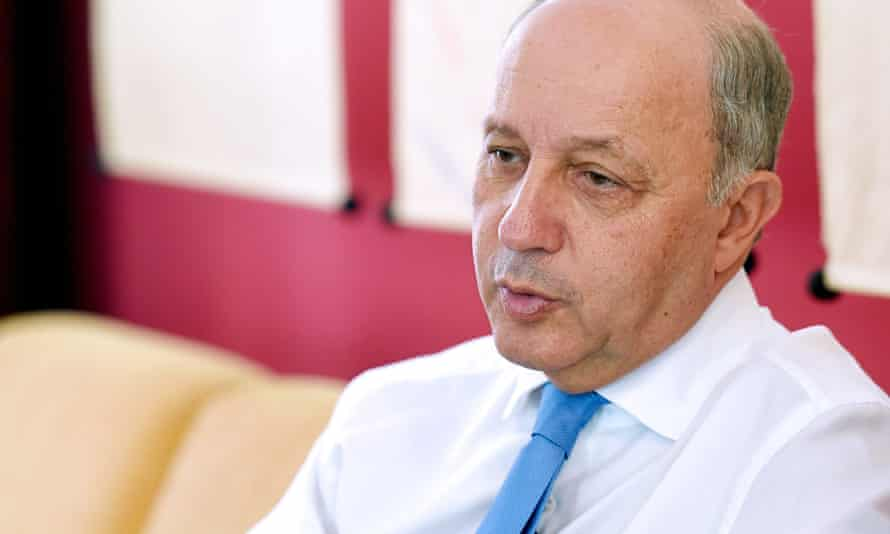 Laurent Fabius, French minister of foreign affairs