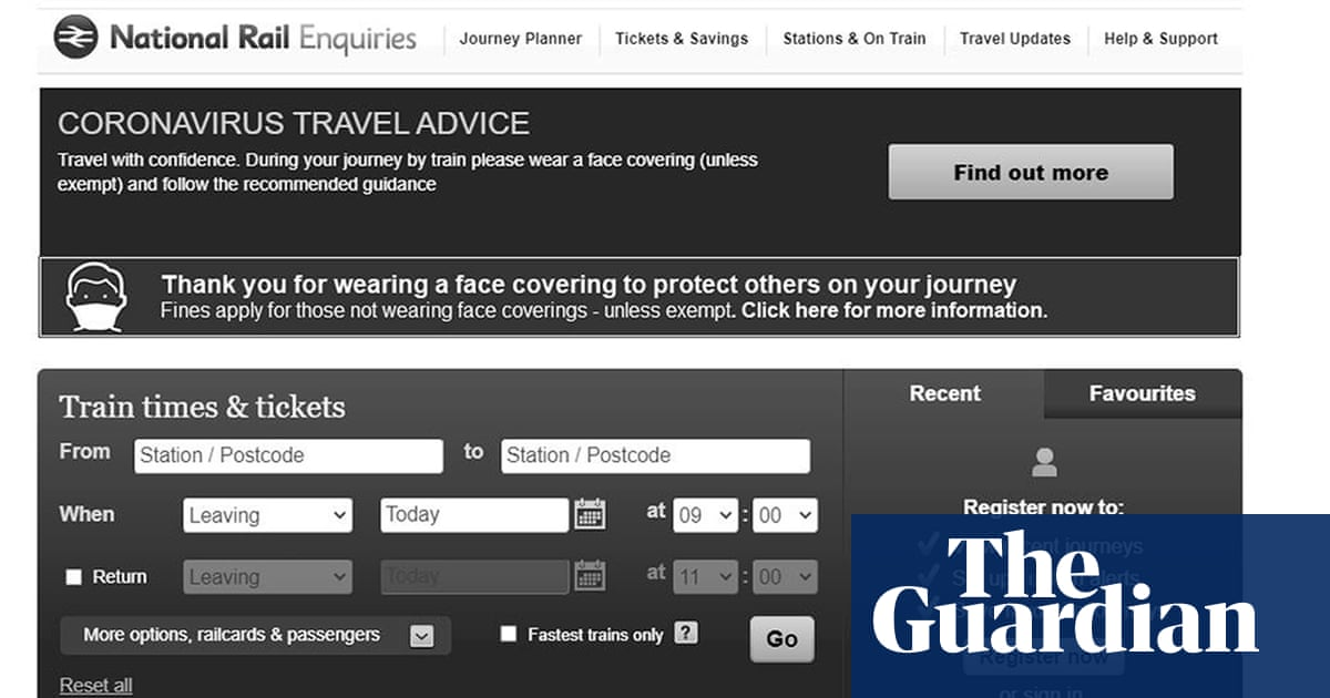 Visually impaired users complain after rail websites go greyscale for Prince Philip