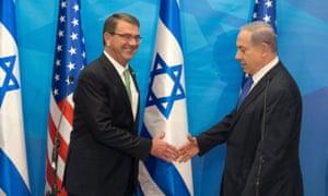 Ashton Carter with Binyamin Netanyahu