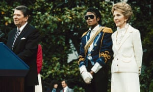 Clearly of the thinking that it's better to be over than under-dressed, MJ wore a sparkly military-chic jacket complete with gold epaulettes and sash to meet then-president Ronald and first lady Nancy Reagan at the White House in 1984. It's a look he brought back for the Grammys that same year. From Melania Trump's recent military-style jacket with a controversial slogan to catwalks, mode a le martial remains popular