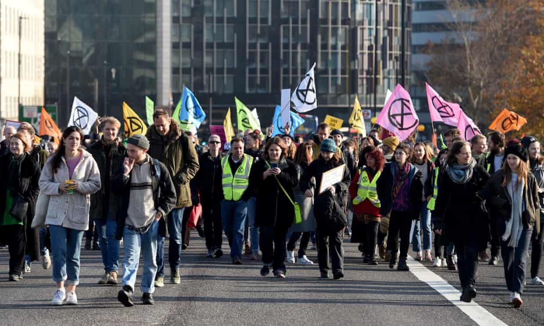 Extinction Rebellion activists last year