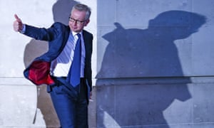 Michael Gove leaves BBC House after a TV debate in central London, June 2019.