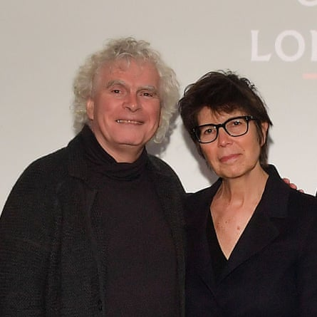 The architect Liz Diller in London last week with the conductor Simon Rattle.