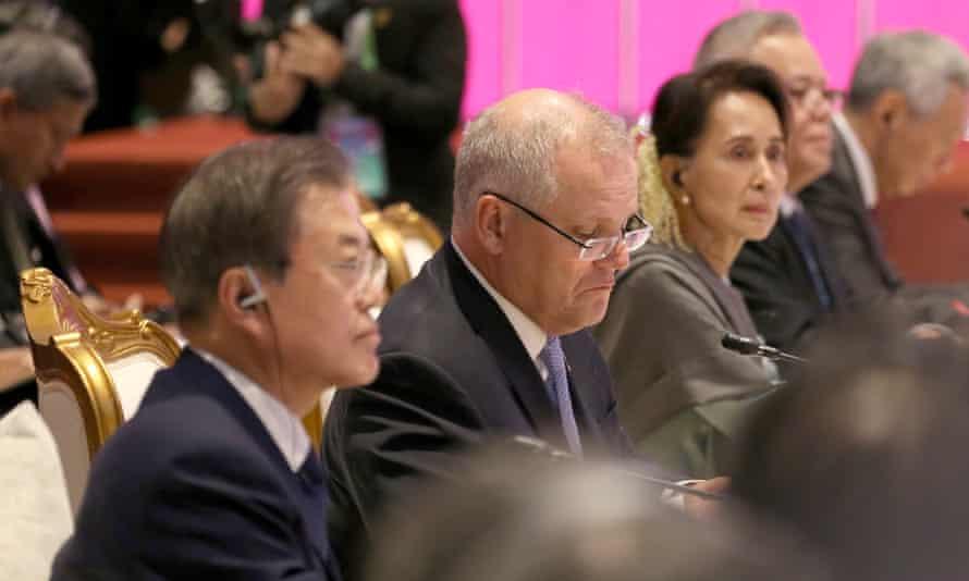 Scott Morrison at the Asean summit in Thailand