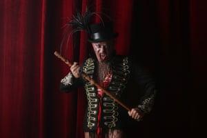 Mika Haka in the dark cabaret.